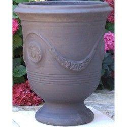 Vase d'Anduze terre cuite Anthracite Terre Figuière