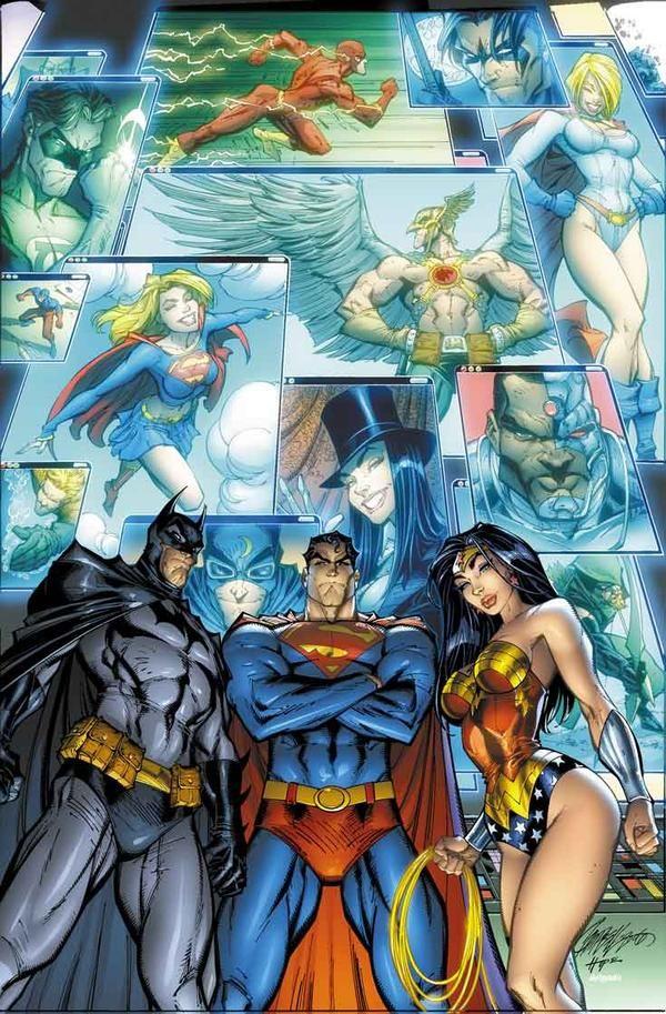 JLA - Justice League of America #0//J. Scott Campbell/C/ Comic Art Community GALLERY OF COMIC ART