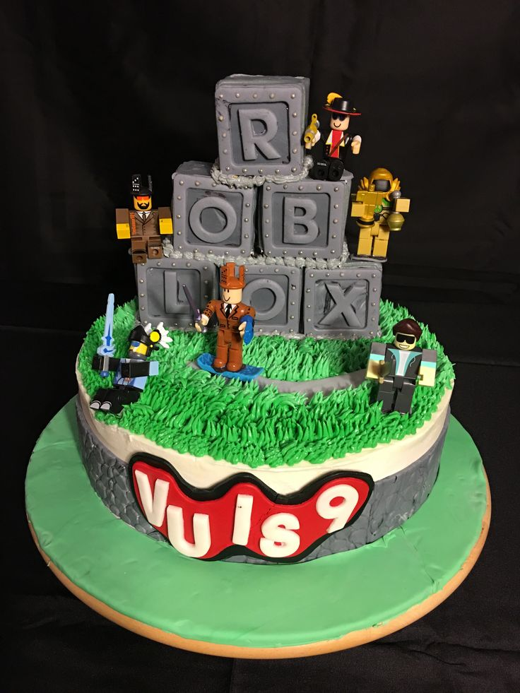 9th Birthday Cake Roblox Birthday Cake Cakes Desert