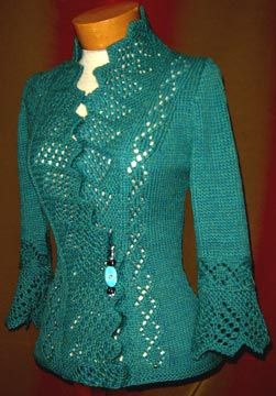Colette - this is a knitted piece but I can see adapting this to crochet as well. Anyone wanna take a stab at that?