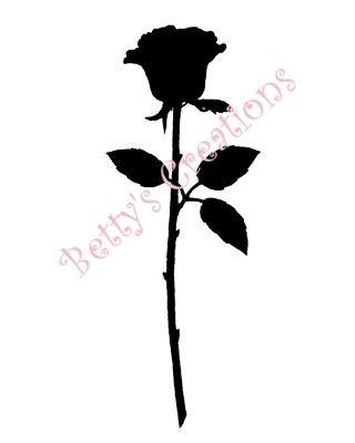 Rose Silhouette | http://hawaiidermatology.com/rose/rose-silhouettes.htm