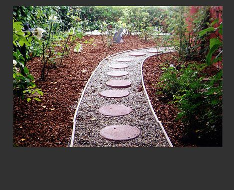 Round Stone Walkway