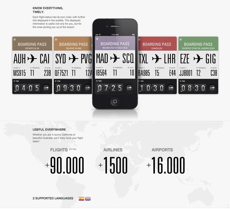 flight card iphone app design ui