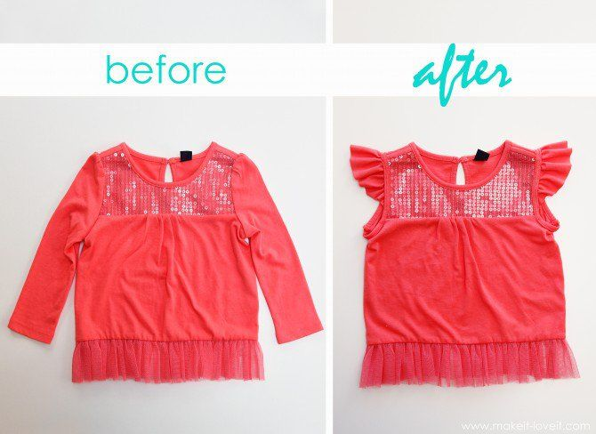 Learn how to turn love sleeves into cute shorter flutter sleeves with this easy to follow tutorial!