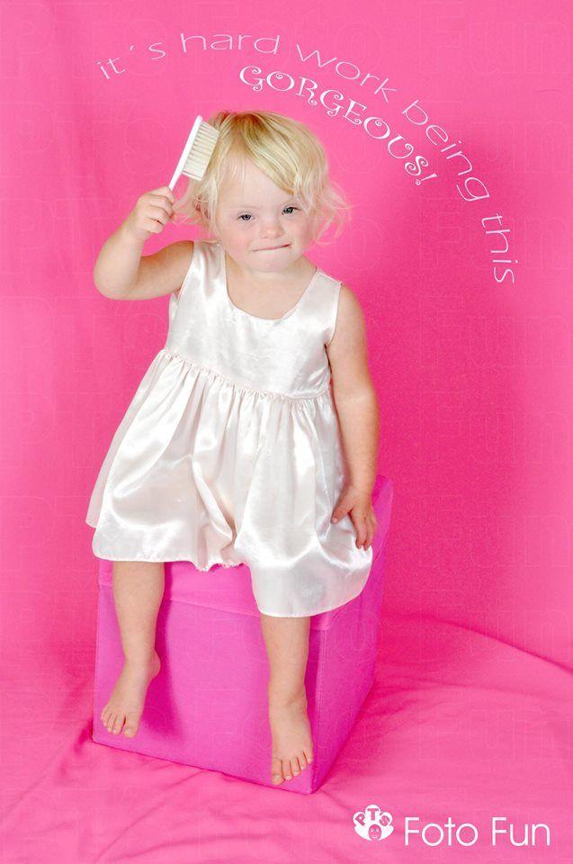 Beautiful Brooke in pink background