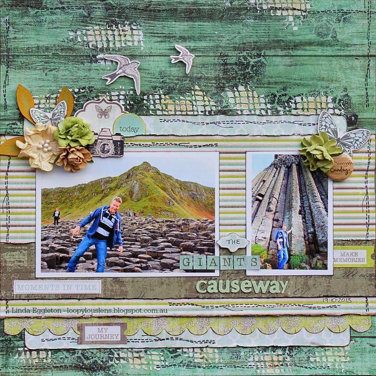 Kaisercraft -  Honey Chai - Linda Eggleton - for All About Scrapbooks/1st April Stuck sketch