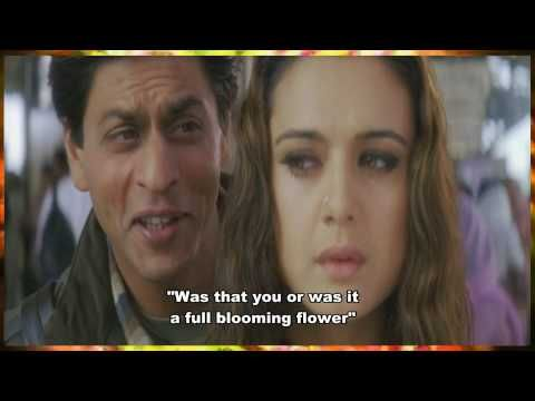 Sharukh Khan - EVERYONE MUST LISTEN TO THIS SONG!! English subtitles provided - MOVIE: Veer Zaara - SONG: Do Pal This is why i love Bollywood!! The lyrics to the songs and every emotion from the actors portraying fictional characters, just so real and believable! I just love it! Its really something you will not ever see in a Hollywood movie. Yeah the movies are 3hrs long, but totally worth the watch when there's such beautiful poetry/songs/emotions & amazing actors :) **WATCH FULLSCREEN**