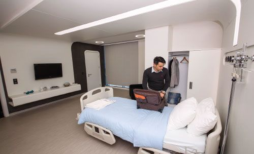 Deluxe room in Asmed clinic