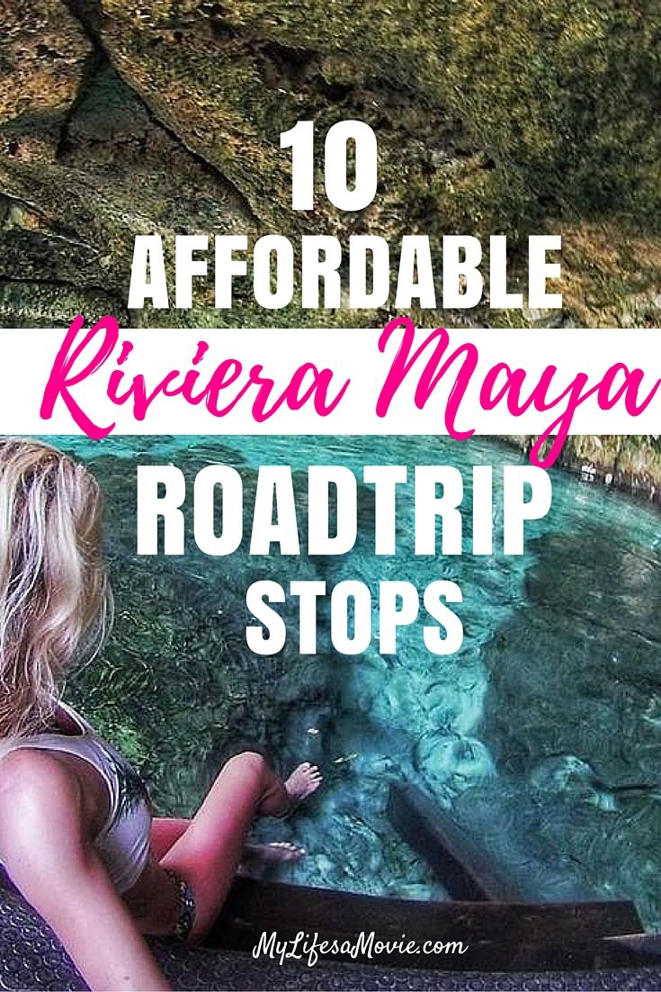 The Riviera Maya doesn't have to be expensive! See the awesome cenotes and ruins of Riviera Maya on an affordable roadtrip with these tips!