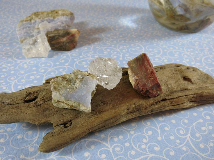 Wetterfühligkeit Wasserbelebung - Chalcedon & Versteinertes Holz - Edelsteine Wimmer