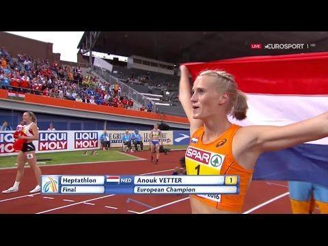 European Athletics Champs Amsterdam 2016 800 m Heptathlon WOMEN (Rd-1 He...