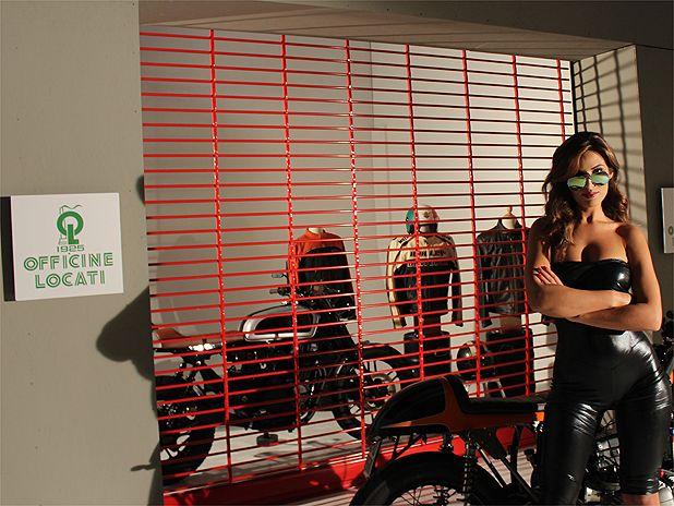 Bárbara Amérigo for Officine Locati cafè racer pic