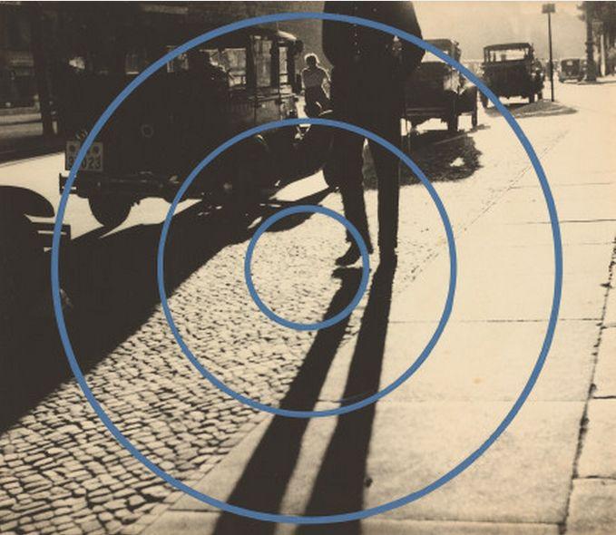 György Kepes, Shadow of a Policeman, Berlin, 1931, gouache addition, c. 1937/39