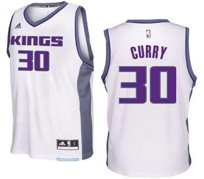 Sacramento Kings #30 Seth Curry 2016-17 Seasons Home New Swingman Jersey White