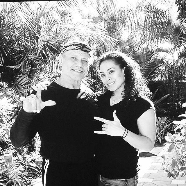 "WWE Hall of Fame Superstar ""Superfly"" Jimmy Snuka and his daughter WWE Diva Sarona Snuka  (Tamina) #WWE #WWEFamilies"