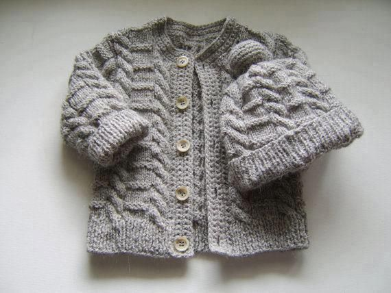 TEJIDOS C/2 AGUJAS on Pinterest | Knitted Baby Cardigan, Tejidos ...