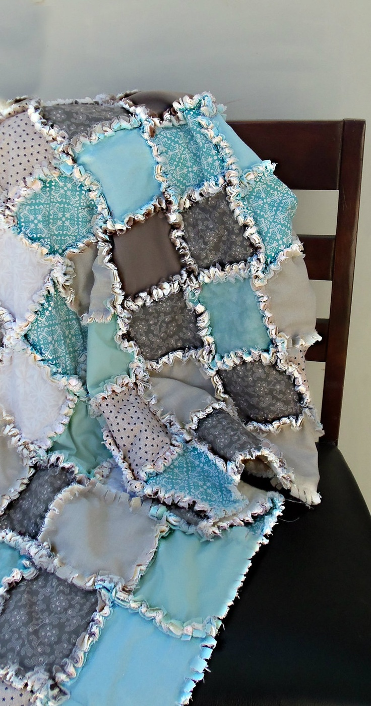 Rag Quilt Color Ideas : Baby Modern Rag Quilt. USD 105.00, via Etsy. Sewing Pinterest Quilt, Colors and Babies