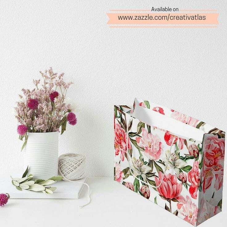 PRODUCT : Large Gift Bag  BUY FROM : http://ift.tt/2dND4zq  COLLECTION : Pink Peonies Watercolor floral Illustration  ABOUT : Sometimes the wrapping is just as important as the present. Order a couple of custom gift bags and make everyone you give a gift to feel extra special! This floral gift bag is great for birthdays anniversaries holidays and other occasions.  DIMENSIONS :  12.5 l x 4 w x 9 h Made with premium quality paper for extra durability Choice of matte or glossy finish Available…