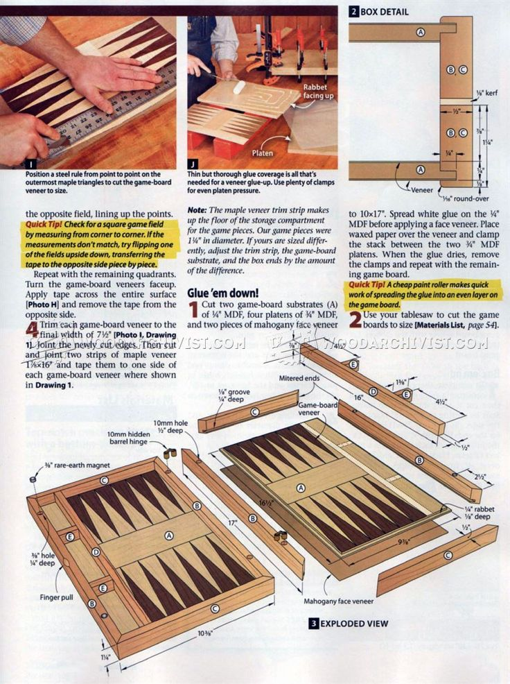 2071 Backgammon Board Plans • WoodArchivist