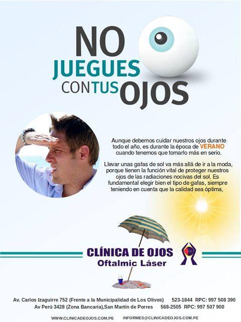 345d375761 Clínica de Ojos Oftalmic Láser: NO JUEGUES CON TUS OJOS | Ojos ...