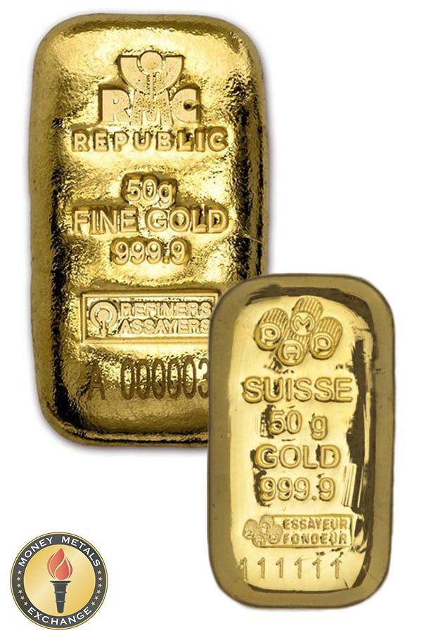50 Gram Gold Bars For Sale Most Purchases Ship Free Money Metals Gold Bars For Sale Gold Money Gold And Silver Coins