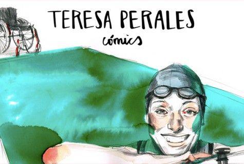 """""""Teresa Perales Cómics"""" obra realizada por algunos de los más brillantes dibujantes españoles sobre la historia de Teresa. Esta obra es también un homenaje al mundo del deporte que pretende dar visibilidad a todos aquellos deportistas paralímpicos que luchan a diario por lograr el reconocimiento y la equiparación con el resto de deportistas."""