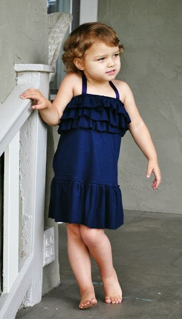 Quick and Easy Tshirt to Kids Dress ,