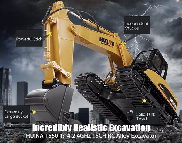 Best Toys 1/12 Metal Excavator Electric Toy Charging RC Car 15Channel 2.4G  The Best Toys 1/12 Metal Excavator is a 1/12 scale model of a genuine excavator, and it can truly work like a genuine article! Player can remote control it to push ahea...