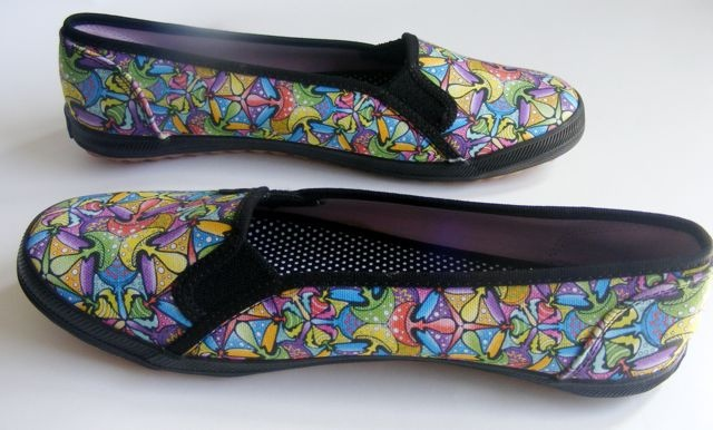 Keds Shoes featuring a tessellating pattern I created made up entirely of Magical Mushrooms :)