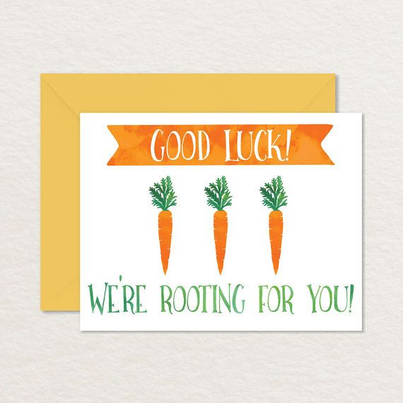 Good Luck A2 Printable Greeting Card / Good Luck By Brainooli  Good Luck Cards To Print