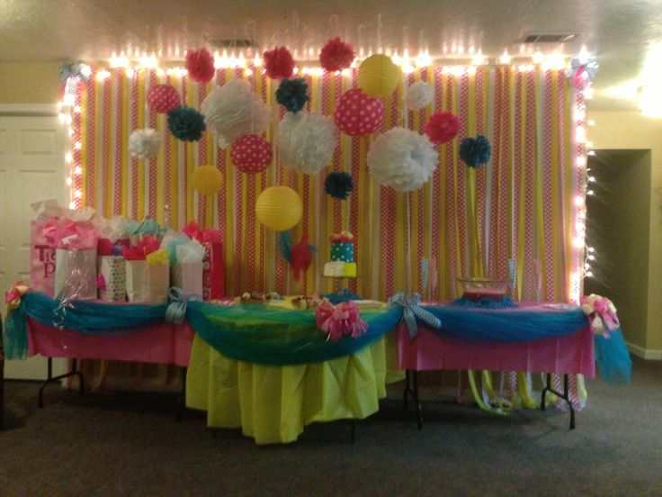 Baby Shower Hot Pink Yellow And Teal Baby Shower