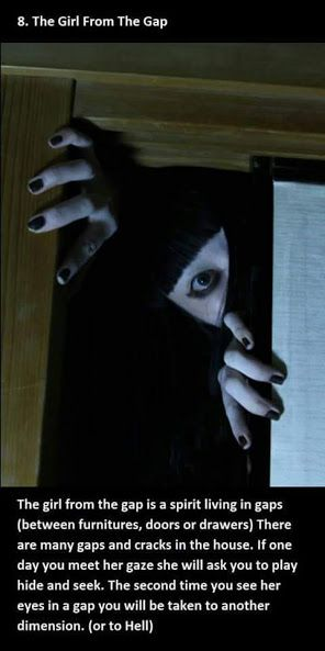 japanese urban legends - The Girl from the gap