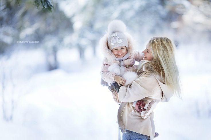 Winter winter photo kids family зима зимняя фотосессия мама и дочка