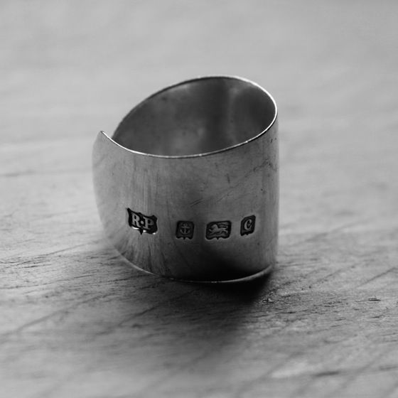 Handmade Cutlery Jewellery - Solid Silver Butter Knife Ring  #cutleryjewellery #silverjewellery #bristoluk #ethicaljewellery #handmadejewellery #recycled #solidsilver #bigcartel #vintage #ethics #uniquegifts #cutleryjewellery #handmade #teaspoon #bristoluk #solidsilverjewellery #drumandfifejewellery #nowaste #recycled #givenasecondlife #handmade #ring #necklace #bigcartel #lukh #ethical #win #ethicalfashion #recycleweek #unusualgift #outsidethebox #handmadejewellery #history