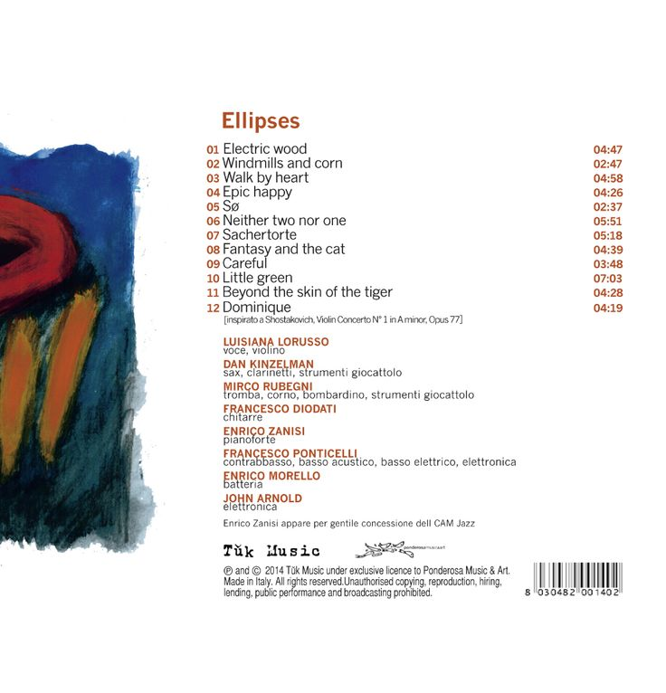 graphic design & artwork for tǔk music • CD rear cover ELLIPSES • francesco ponticelli