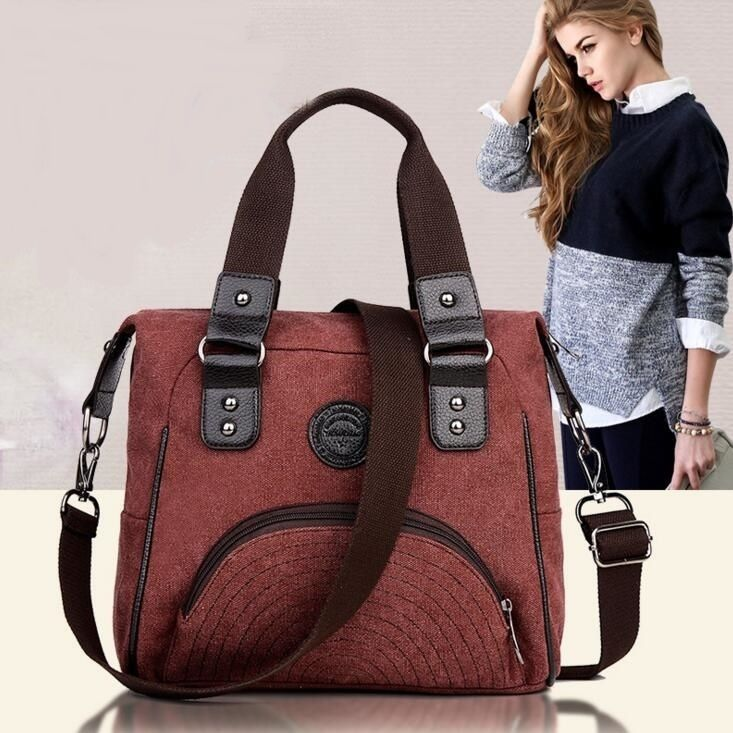 43.00$  Watch here - http://aibds.worlditems.win/all/product.php?id=32601987648 - Women Vintage Canvas Shoulder Bags Office Bags For Men Briefcases Business Handbag Unisex High Quality Tote Bag 2016 New Fashion