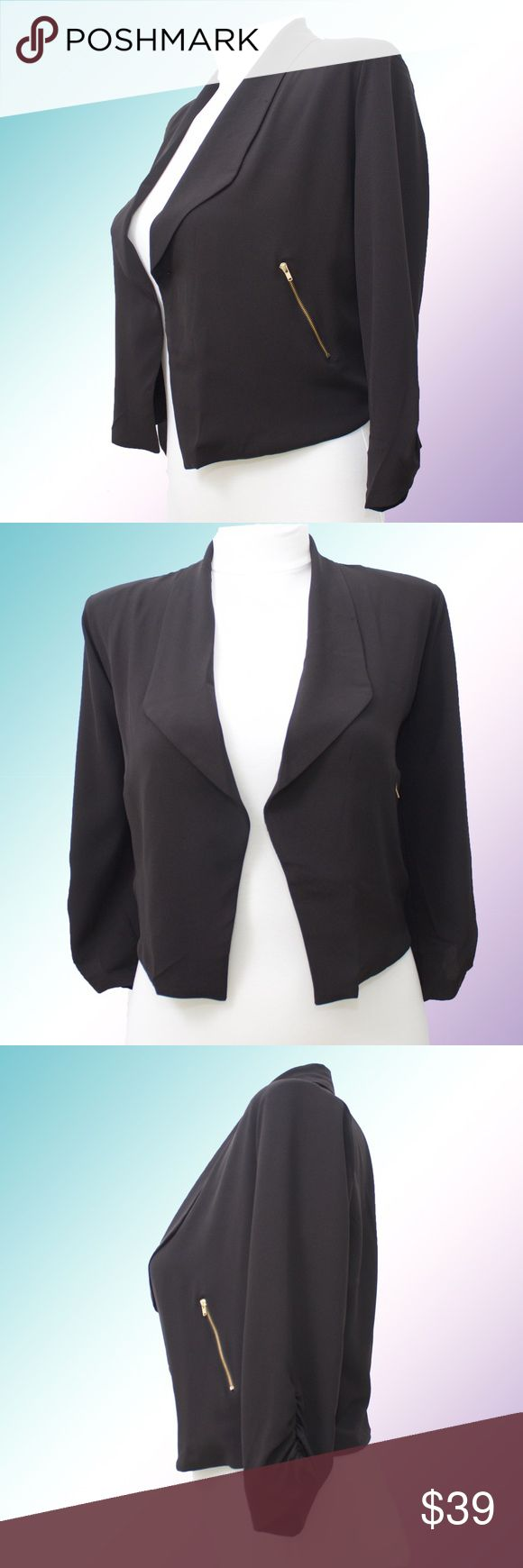 🎉SALE! Plus Size Lightweight Drape Front Blazer Super lightweight draped front blazer with 3/4 ruched sleeves and gold zipper faux pockets. This cute blazer can go from day to evening and goes with everything. The lightweight fabric also keeps you cool in any season. Available in sizes 1x, 2x, 3x with limited stock! More blazers and plus size pieces coming soon! Shop The Aivy's Closet for young, professional, fashionable and affordable attire! #affordable #workwear #office #attire Jackets…