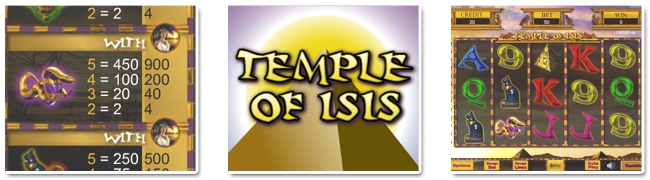 See the Egyptian sights, play Temple of Isis free slots at Gossip Bingo!