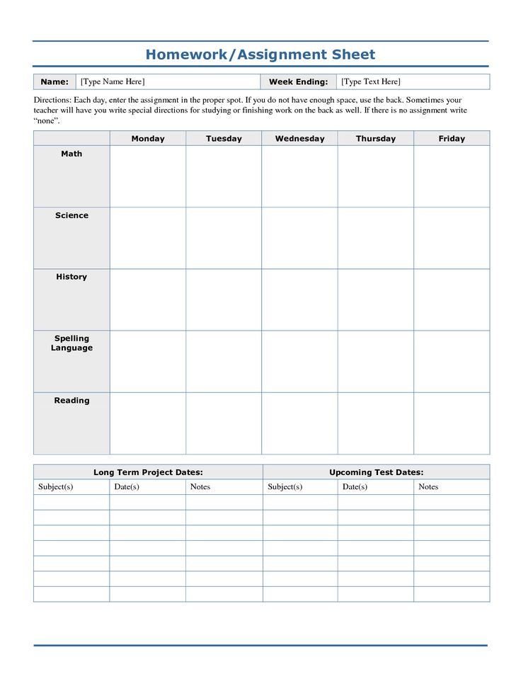 Best 25+ Assignment sheet ideas on Pinterest Homework college - daily task sheet template