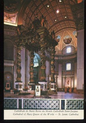 Plastichrome Postcard, Cathedrale de Marie, Reine du Monde, Cathedrale Saint-Jacques, Montreal