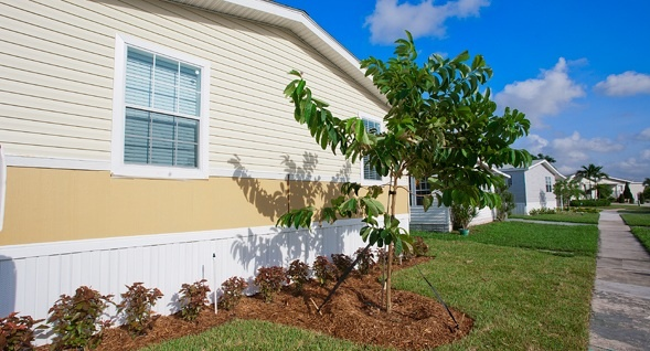 parking, a private outdoor storage shed, professional landscaping
