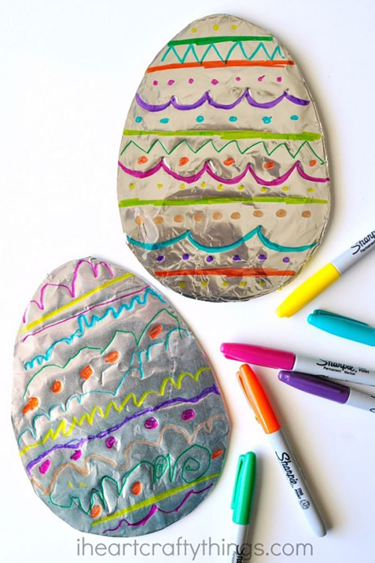 Tin Foil Easter Eggs - CountryLiving.com