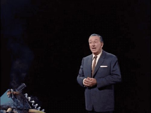 """Walt Disney blooper! From the documentary """"Working With Walt"""""""