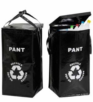 Miljökassar för Pant av BURKAR resp PET-flaskor, 2- svarta i gruppen Alla Artiklar hos HouseofHedda.com (ODPant2SvartaKassar)