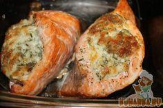 Рецепт: Кармашки из семги с сыром