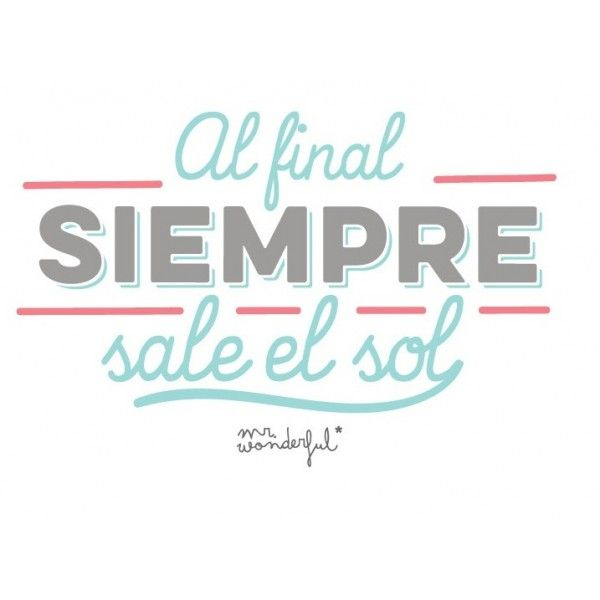 Mr. Wonderful. Siempre sale el sol