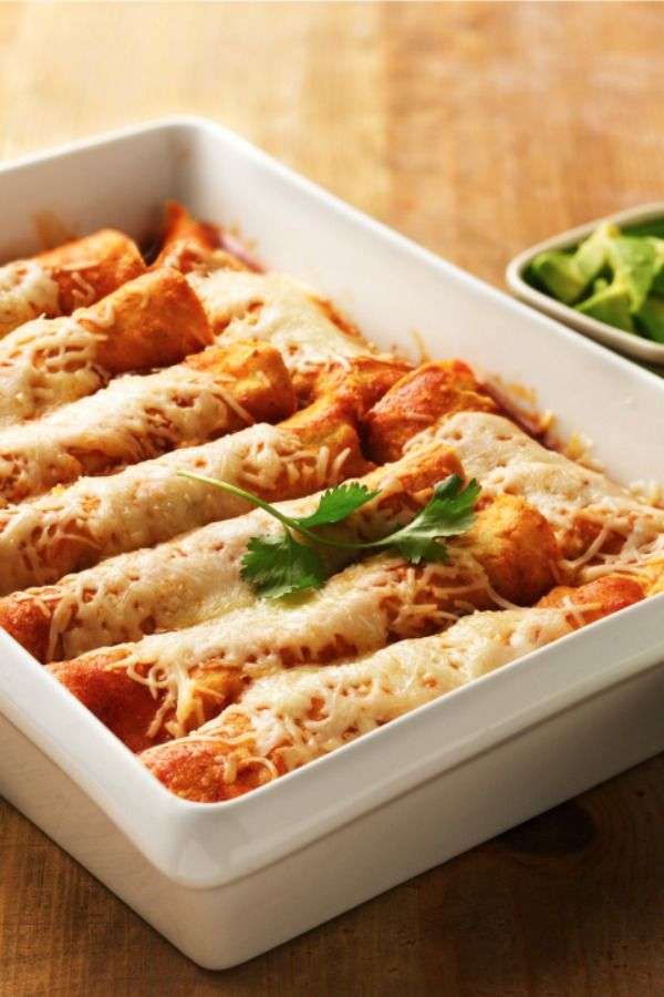 """This dish is a crowd-pleasing Mexican meal everyone will love! Betty members love that it's simple and customizable to your family's tastes. Switch it up by subbing in whole-wheat flour tortillas, adding meat, using a spicier cheese and serving with whatever toppings you like. File this one under """"classic."""""""