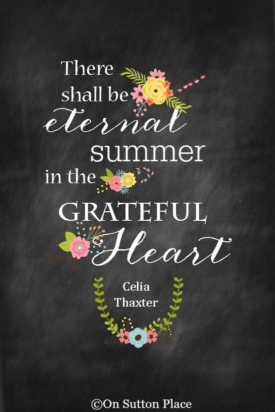Summer Printable | Celia Thaxter quote about summer available in a free chalkboard printable. Use for DIY wall decor, crafts, cards, screensavers and more!