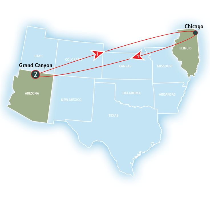 Map route of Grand Canyon Family Adventure