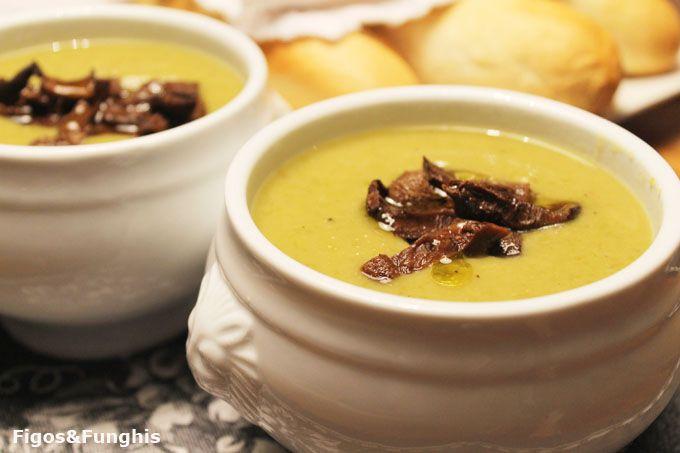 Sopa Cremosa de Ervilha com Funghi   Blog Figos & Funghis